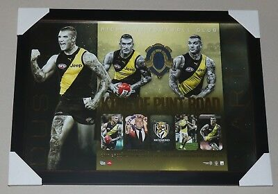 "Dustin Martin Framed Print ""2017 Premiers Richmond Tigers"" Brownlow Medallist"