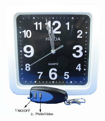 Remote Control 8GB 720*480 Covert Spy Hidden Wall Clock Camera With Built-in DVR