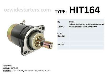 Mercury / Tohatsu starter motor suits 25hp -30hp models from 1992-2010