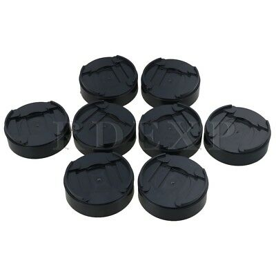 """8x Cylindrical Black  1"""" Bed Table Sofa Lift Riser for More Space"""