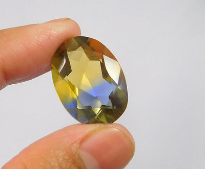 17 Cts. Treated Faceted Oval Shape Ametrine Cut Loose Cab Gemstone NG1928