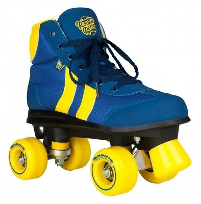"ROOKIE ""Retro V2.1"" Quad Rollerskates Complete Skates 4 to 9uk BLUE YELLOW SALE"