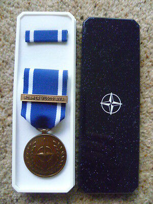 Original Nato  Medal - Former Yugoslavia - Brand New In Box Of Issue
