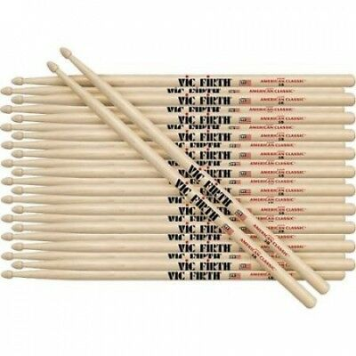 Vic Firth 12-Pair American Classic Hickory Drumsticks Nylon 5B. Delivery is Free