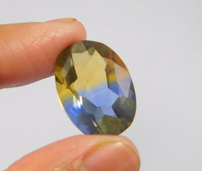 14 Cts. Treated Faceted Oval Shape Ametrine Cut Loose Cab Gemstone NG1934
