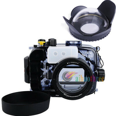 Seafrogs 60m Waterproof Case Skin + Fisheye Dome Port For Sony A6000 A6300 A6500
