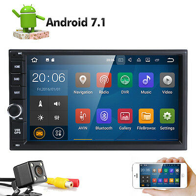 Android 7.1 Car GPS 16GB RAM:2GB Mirror-link Stereo HeadUnit Navigation + Camera