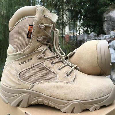 Military Tactical Boots Desert Combat Outdoor Army Hiking Travel Botas Shoes UK