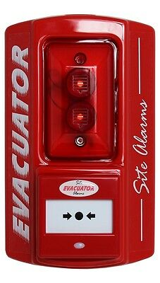 Evacuator site alarm outdoor standalone fire call point with sound/strobes