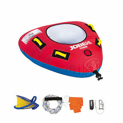 New Jobe Thunder Pack 1 Person Inflatable Rope Pump Towable Jetski Ringo Donut