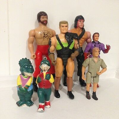 Vintage Toy Action Figure Lot 1980s & 1990s Rambo Disney