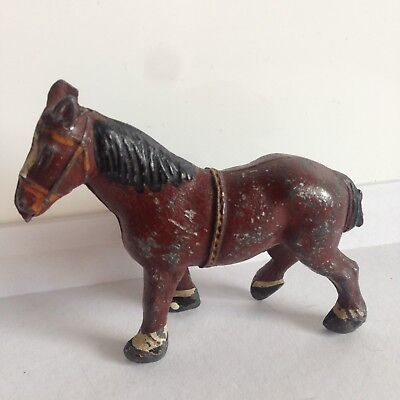 Crescent Lead Shire Horse (353) 1950s Antique Toy England
