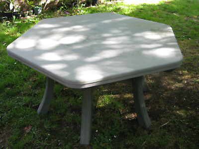 Large Outdoor Dining Table Hexagonal in decent condition