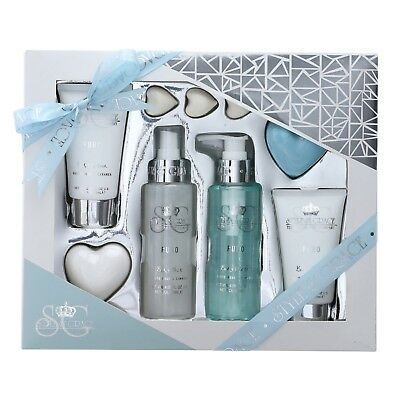 Style & Grace Puro Bath Gift Set - Body lotion, mist, polish, wash, soap, pearls