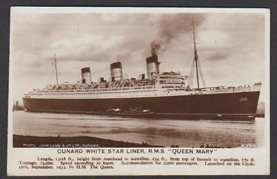 The new .. Cunard White Star Liner RMS QUEEN MARY in the River Clyde .. 1936