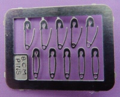 Dolls House Miniature 1/12 Scale 10 Safety Pins For Dolls House Workbasket