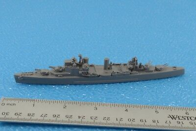 Unmarked Large War Ship Metal 1:1250 Scale (S4)