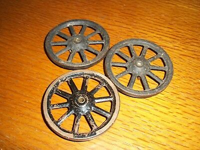 Meccano Part 19a Spoked Wheel Black Pack of 3