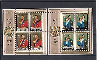 Cook Islands 1982 Royal Baby Birth MNH Sheetlets Set