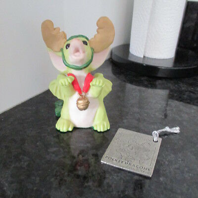 """Pocket Dragons """"the Littlest Reindeer"""" Xmas 1997 Retired Perfect Look!!"""