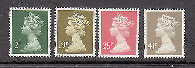 UK Machins Mint unhinged lot 4 stamps to 41p