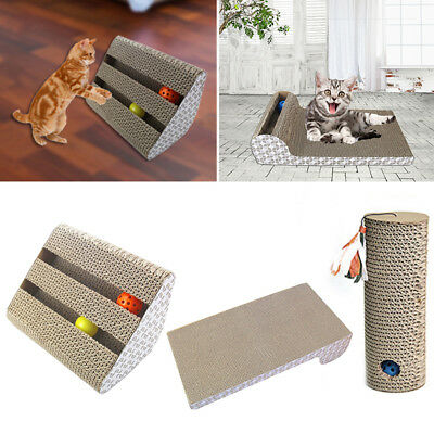 Cat Toy Rolling Scratching Toy Trapped Bell Ball Training Board Plate Pet Supply