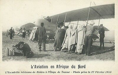 ** TOP CPA ,Afrique Aviation, Escadrille Aérienne de Biskra, Etape de Tozeur **