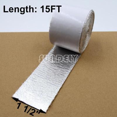 "1.5"" Aluminum Reinforced Tape Adhesive Backed Heat Shield Resistant Wrap For All"