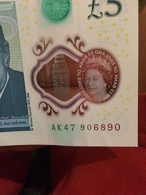 ak47 £5 Note Very Rare Jane austin Ak47 note five pound note read description