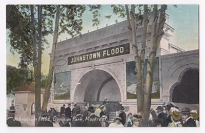 Johnstown Flood Dominion Park MONTREAL Quebec Canada 1907-15 European Post Card