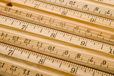 Whitecroft WC/Ruler | Wooden Metre Stick | Metric & Imperial