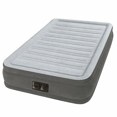 Intex Comfort Plush Mid Rise Dura-Beam Airbed with Built-in Electric Pump, Twin