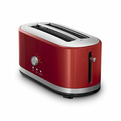 KitchenAid 4-Slice Long Slot Toaster with High Lift Lever, Empire Red