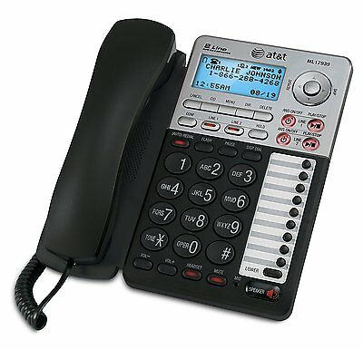 AT&T 2-Line Corded Phone with Digital Answering Machine, Speakerphone (ML17939)