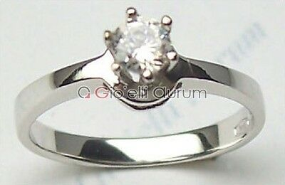 White gold solitaire ring 18 carat diamond VS1G 0,22 ct