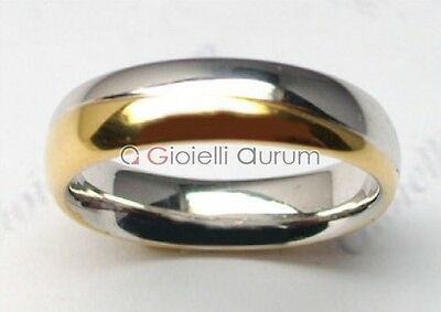 Pair wedding rings bicolor white gold and 18 ct
