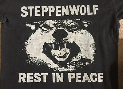 An Authentic Original Rare Steppenwolf Rest In Peace/John Kay Band Tee Shirt
