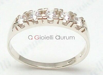 Ring engagement ring white gold 18 kt. with diamonds 0,25 ct