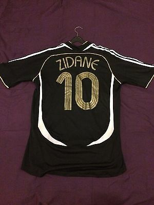 """Official 2007 The Match Against Poverty Shirt Zidane #10 Large (42-44"""") RARE"""