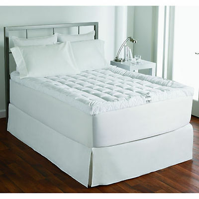 Brand New Ultimate Cuddle Bed Mattress Topper White 100% Cotton - King