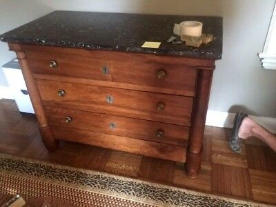 Antique Marble Top French Commode or Chest of Drawers.