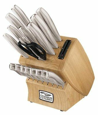 Chicago Cutlery 18-Piece Insignia Steel Knife Set with Block And In-Block