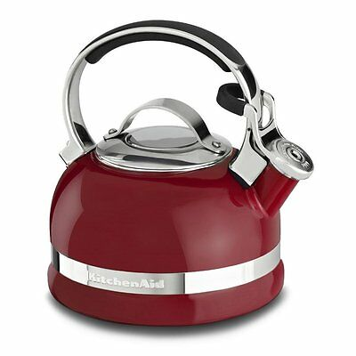 KitchenAid  2.0-Qt Kettle Full Stainless Steel Handle Red