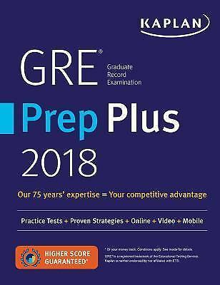 Kaplan Test Prep: GRE Premier 2018 with 6 Practice Tests : Online + Book + Video