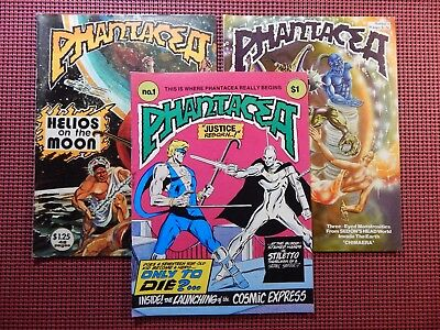 Phantacea #1, 3 & 4 1977 Series 1st Printings Kennedy Ground Level #148-151