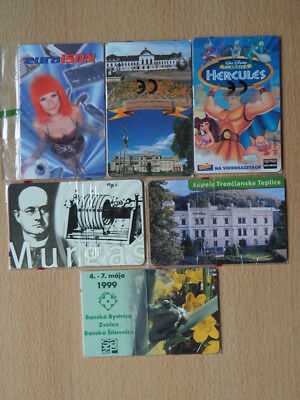 6 czech/slovak mint phonecards - factory sealed