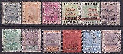British Guiana 1876/89  collection of 12 used
