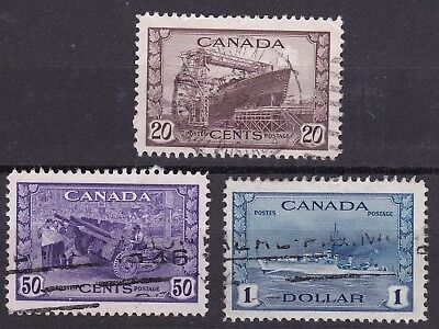 Canada 1942 part set of 3 used