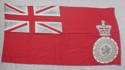 Large Unusual Antique Or Vintage Red Ensign Star Of India With Crown Flag