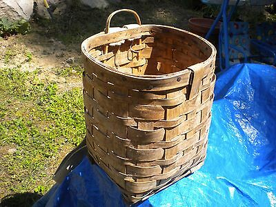 Vintage Basket Harvesting Basket Weaved Basket Packing Basket See Description